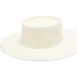 Lola Hats - Sprinkler Silk-tie Straw Hat - Womens - White