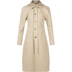 Bottega Veneta - Detachable Macramé-hood Linen-blend Coat - Womens - Beige found on Bargain Bro UK from Matches UK