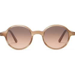 L.g.r Sunglasses - Reunion Round Acetate Sunglasses - Mens - Beige found on Bargain Bro from Matches Global for USD $247.00