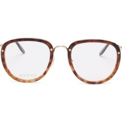 Gucci - Round Tortoiseshell-acetate Glasses - Mens - Clear found on Bargain Bro from Matches Global for USD $364.80
