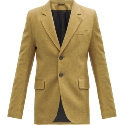 Ann Demeulemeester - Single-breasted Brushed Twill Blazer - Mens - Beige found on MODAPINS from Matches Global for USD $972.00