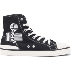 Isabel Marant - Benkeen Logo-print High-top Canvas Trainers - Womens - Black found on Bargain Bro UK from Matches UK