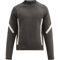 Jacquemus - Panelled High-neck Cotton Sweater - Mens - Grey found on Bargain Bro UK from Matches UK