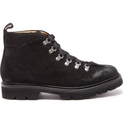 Grenson - Bobby Suede Hiking Boots - Mens - Black found on MODAPINS from Matches Global for USD $335.00