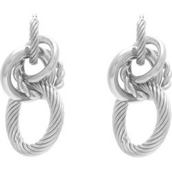 Bottega Veneta - Interlocking Hoop Earrings - Womens - Silver found on Bargain Bro from Matches UK for £689
