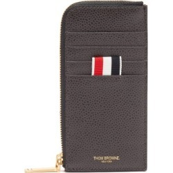 Thom Browne - Four-bar Pebbled-leather Wallet - Mens - Grey found on Bargain Bro UK from Matches UK