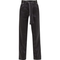 Adriana Iglesias - Lauren Silk-satin Trousers - Womens - Black White found on MODAPINS from Matches Global for USD $237.00