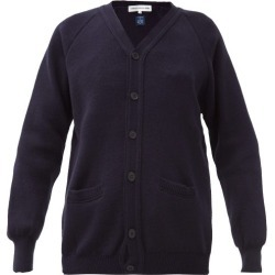 Comme Des Garçons Girl - V-neck Knitted Cardigan - Womens - Navy found on MODAPINS from Matches UK for USD $146.57