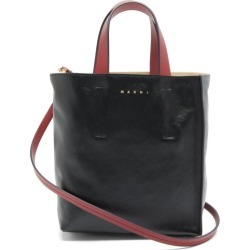 Marni - Museo Mini Leather Tote Bag - Womens - Black Multi found on Bargain Bro from Matches UK for £654
