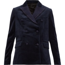Golden Goose - Misam Double-breasted Velvet Blazer - Womens - Navy found on Bargain Bro UK from Matches UK