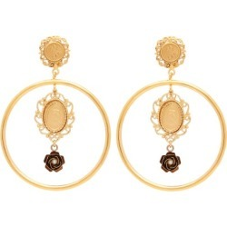 Dolce & Gabbana - Cameo-charm Hoop Clip Earrings - Womens - Gold found on Bargain Bro from Matches UK for £437