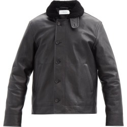 Caruso - Veste aviateur en cuir à col shearling found on MODAPINS from matchesfashion.com fr for USD $3360.50