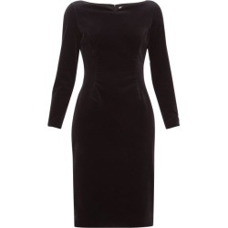 Goat - Intrigue Boat-neck Velvet Dress - Womens - Black found on MODAPINS from MATCHESFASHION.COM - AU for USD $185.29