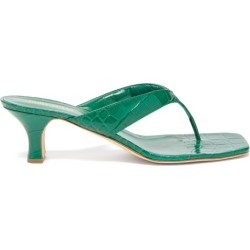 Paris Texas - Crocodile-effect Leather Sandals - Womens - Dark Green found on Bargain Bro UK from Matches UK