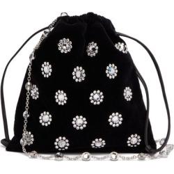 Miu Miu - Flower Crystal-embellished Velvet Drawstring Bag - Womens - Black found on Bargain Bro UK from Matches UK
