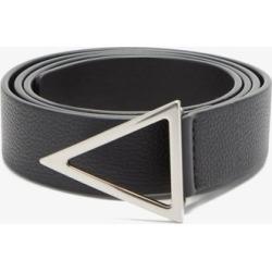 Bottega Veneta - Triangle-buckle Grained-leather Belt - Mens - Black found on Bargain Bro UK from Matches UK
