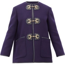 Gucci - Horsebit Pressed Wool-blend Coat - Womens - Blue found on Bargain Bro India from Matches Global for $3500.00