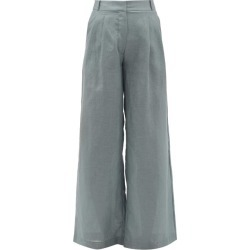 Asceno - Rivello High-rise Pleated Linen Trousers - Womens - Grey found on MODAPINS from Matches Global for USD $321.00