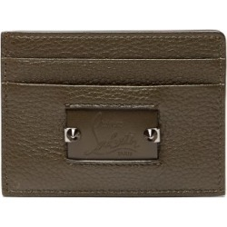 Christian Louboutin - Kios Spike Leather Cardholder - Mens - Green Multi found on Bargain Bro India from Matches Global for $270.00