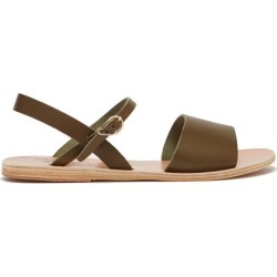 Ancient Greek Sandals - Kaliroi Leather Sandals - Womens - Khaki