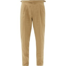 Caruso - Linen Tapered-leg Trousers - Mens - Beige found on MODAPINS from MATCHESFASHION.COM - AU for USD $305.69