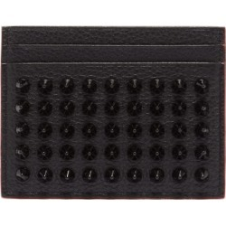 Christian Louboutin - Kios Cone-stud Leather Cardholder - Mens - Black found on Bargain Bro UK from Matches UK