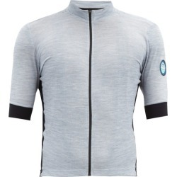 Café Du Cycliste - Eglantine Zipped Merino-blend Cycle Jersey - Mens - Blue found on Bargain Bro India from Matches Global for $145.00