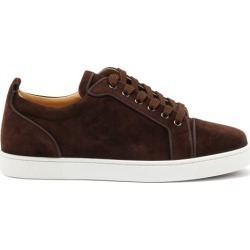 Christian Louboutin - Louis Junior Orlato Suede Trainers - Mens - Dark Brown found on Bargain Bro UK from Matches UK