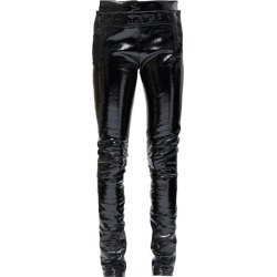 Ann Demeulemeester - Buttoned Patent-leather Skinny Jeans - Womens - Black found on MODAPINS from Matches Global for USD $704.00