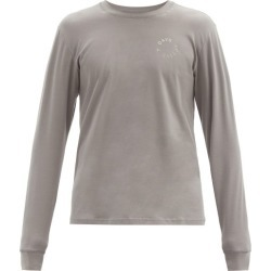 7 Days Active - Logo-print Cotton-blend Long-sleeved T-shirt - Mens - Grey found on Bargain Bro Philippines from Matches Global for $73.00