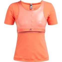 Adidas By Stella Mccartney - Run Scoop Neck T-shirt - Womens - Orange found on Bargain Bro from Matches UK for £30