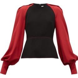 Roksanda - Alana Silk-sleeve Crepe Blouse - Womens - Black Multi found on Bargain Bro Philippines from MATCHESFASHION.COM - AU for $603.33