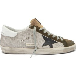 Golden Goose - Superstar Suede-trimmed Canvas Trainers - Mens - Grey found on Bargain Bro UK from Matches UK