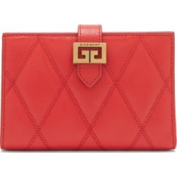 Givenchy - Gv3 Quilted-leather Wallet - Womens - Red found on Bargain Bro UK from Matches UK