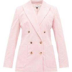 Bella Freud - Bianca Double-breasted Corduroy Blazer - Womens - Pink found on MODAPINS from Matches Global for USD $327.00