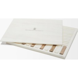 Brunello Cucinelli - Set Of Six Walnut-wood And Faux-marble Chopsticks - Brown White found on Makeup Collection from Matches UK for GBP 1591.58