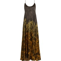 Adriana Iglesias - Brando Floral Print Stretch Silk Gown - Womens - Black Gold found on MODAPINS from Matches UK for USD $973.82
