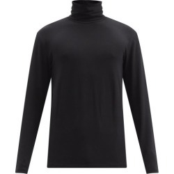 Jil Sander - Roll-neck Cotton-blend Top - Mens - Black found on Bargain Bro UK from Matches UK