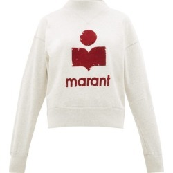 Isabel Marant Étoile - Moby Flocked-logo Cotton-blend Sweatshirt - Womens - Light Grey found on Bargain Bro Philippines from MATCHESFASHION.COM - AU for $184.90