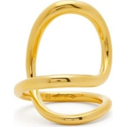Charlotte Chesnais - Ribbon 18kt Gold-plated Sterling-silver Ring - Womens - Gold found on MODAPINS from Matches Global for USD $650.00