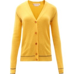 Marni - Topstitched Cashmere Cardigan - Womens - Yellow found on Bargain Bro UK from Matches UK