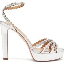 Aquazzura - Sandales à plateforme en cuir Tequila 120 found on MODAPINS from matchesfashion.com fr for USD $1553.50