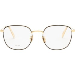 Celine Eyewear - Round Metal Glasses - Womens - Black found on Bargain Bro UK from Matches UK