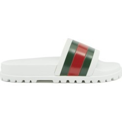 Gucci - Claquettes en caoutchouc à bande Web found on Bargain Bro Philippines from matchesfashion.com fr for $299.00
