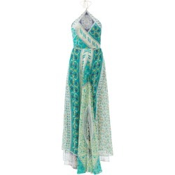 Etro - Patchwork-print Silk-georgette Midi Dress - Womens - Green Blue Print found on Bargain Bro UK from Matches UK