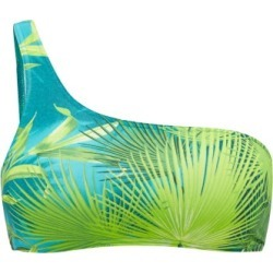 Versace - Jungle-print One-shoulder Bikini Top - Womens - Green Print found on Bargain Bro Philippines from Matches Global for $350.00