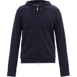 Brunello Cucinelli - Cotton-blend Jersey Hooded Zip-up Sweatshirt - Mens - Navy found on MODAPINS from Matches Global for USD $787.00