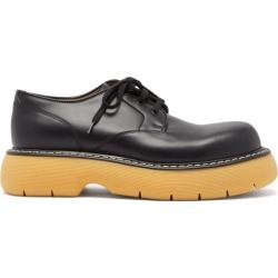 Bottega Veneta - The Bounce Platform-sole Leather Derby Shoes - Mens - Black Brown found on Bargain Bro UK from Matches UK