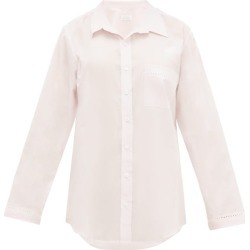 Pour Les Femmes - Crochet-insert Cotton-voile Nightshirt - Womens - Pink found on Bargain Bro India from Matches Global for $195.00