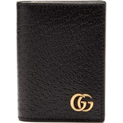 Gucci - GG Marmont Grained Leather Card Case - Mens - Black found on Bargain Bro India from Matches Global for $330.00